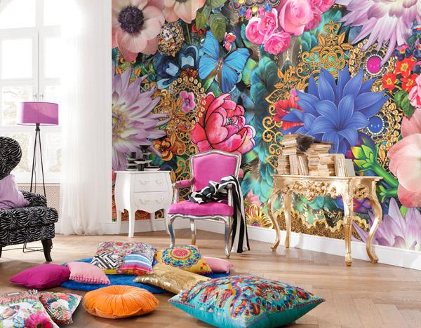 Fotomural decoratiu de flors colors vius
