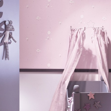 Paper pintat per nadons rosa amb ossets i llis