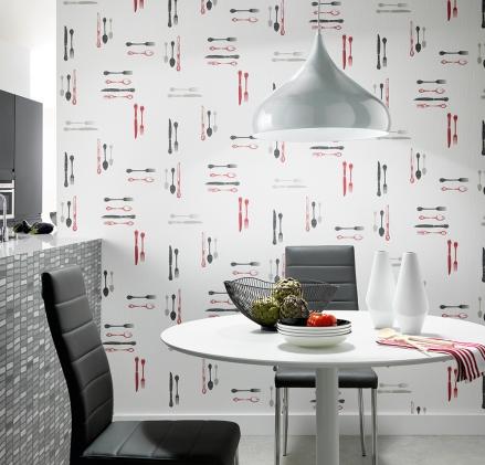 Paper pintat cuina, disseny coberts