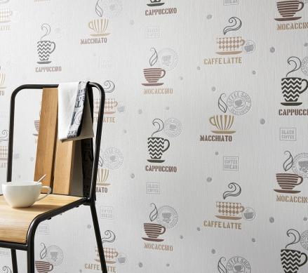 Paper pintat cuina disseny tasses de café