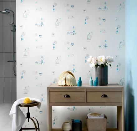 Paper pintat À la maison motius mariners