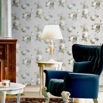 Paper pintat Carlotta, floral clàssic