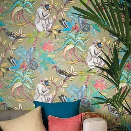 Paper pintat animals i naturalesa exòtica