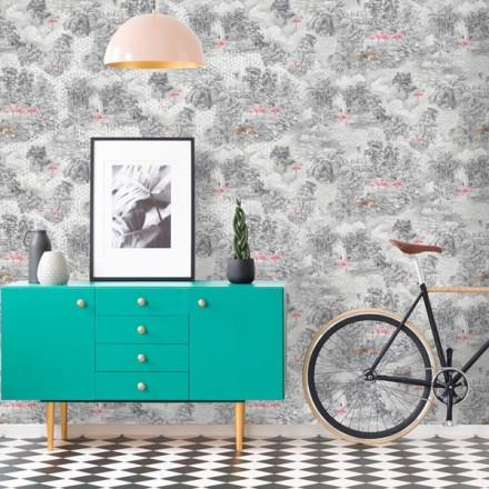 Paper pintat Holden , disseny naturalesa amb fauna